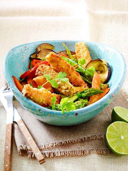 Der Tofu ist ein köstlicher Kontrast zum cremigen Curry!