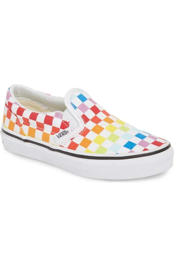 Rainbow checkered Vans. Rainbow checkered Vans Vans Slip On Shoes ... 3eb3db053f17