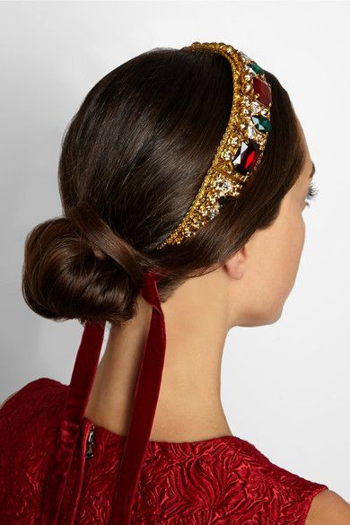 Diadema Dolce Amp Gabbana Con Piedras Naturales Tocados