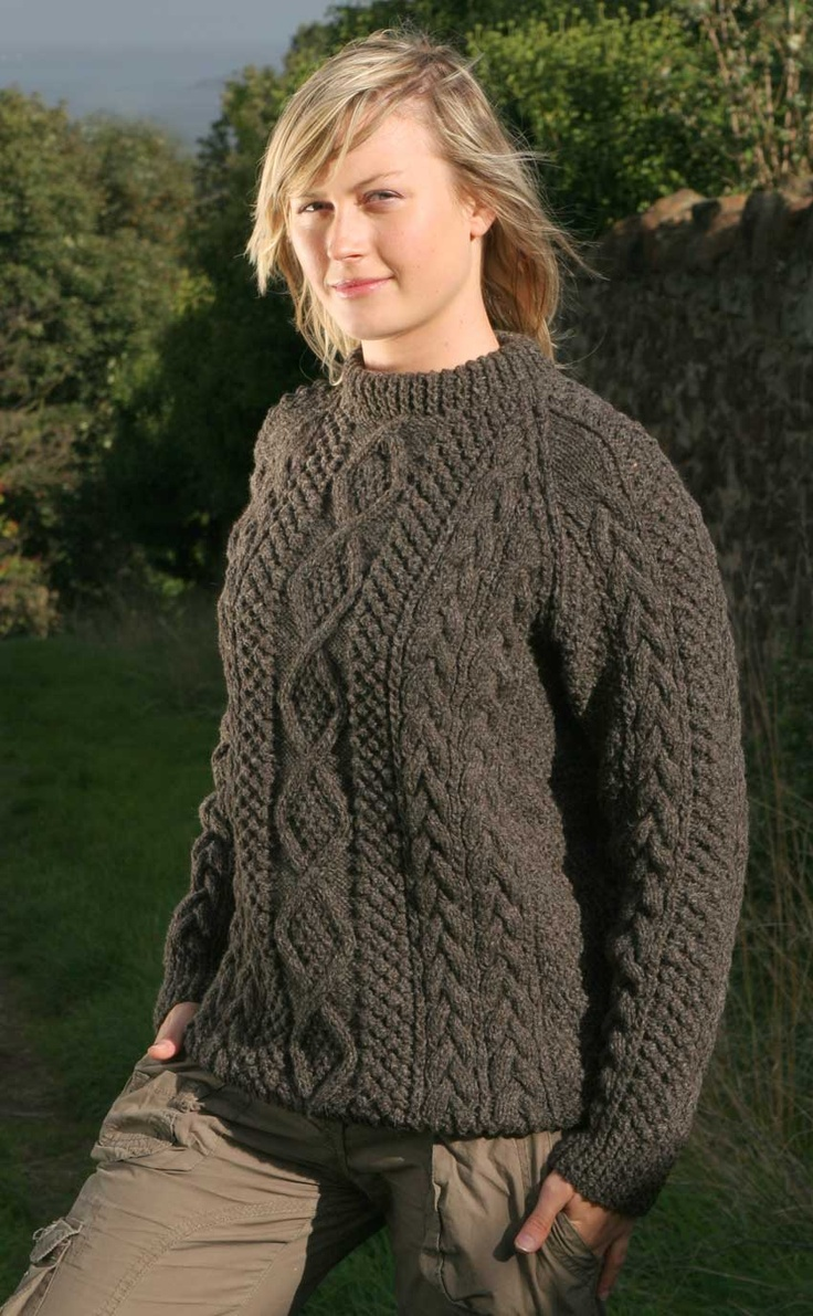 Aran Sweater - in Gritstone