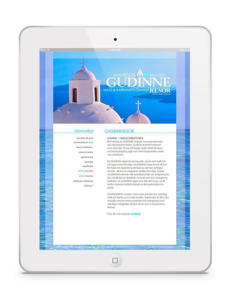 CASE   Website - HTML   ♥ www.GUDINNERESOR.se ♥