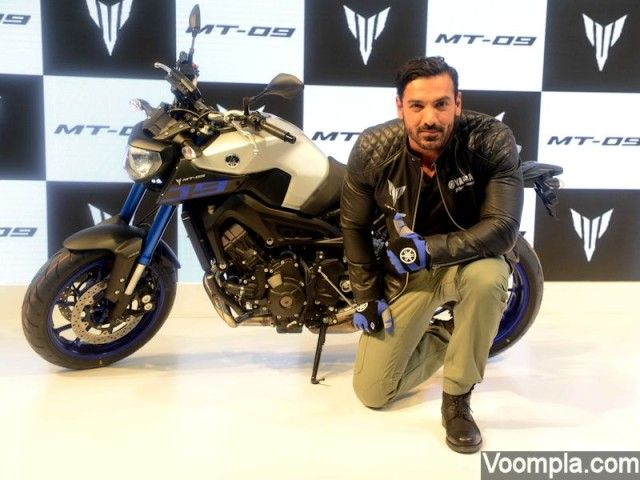 John Abraham Yamaha bike MT-09 launch India