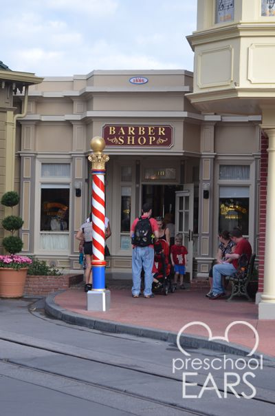 Barber Shop On Main : Harmony Barber Shop on Main Street at Magic Kingdom