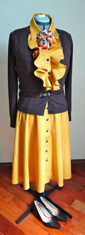Refashion Co-op: Go Change Your Clothes: Mustard Dress