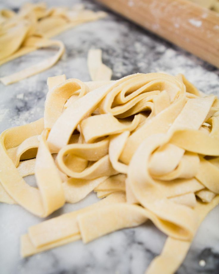 Hand Rolled Homemade Pasta at chasingdelicious.com. Get more delicious at @chasedelicious.