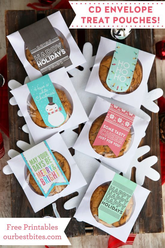 CD Envelope Cookie Pouches   Free Printables!