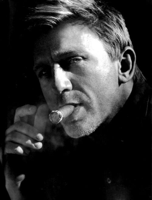 Daniel Craig Smoking a Cigar,