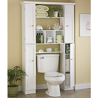 Would be nice to use cabinets like this to frame out the window behind the toilet and extend the window sill for plants