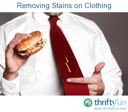 This is a guide about removing stains on clothing. Our clothes seem to