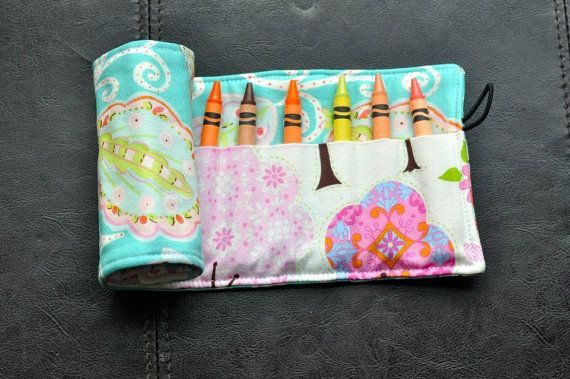Blue Paisley Crayon Cozy/Roll Including by SpoonerSistersDesign, $15.00