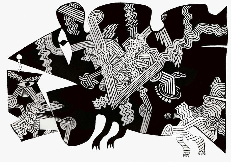 Абстрактное существо. #картина #artwork #craftsman #designer #picture #художник #art #существо #being #knight #drawing #illustration #abstract #expressionism #абстракция #экспрессионизм #expression #экспрессия #композиция #composition #чувства #feelings #эмоции #emotions #графика #graphics #рисунок #ручкой #drawing #pen #painting #искусство #artist #painter #modernism #модернизм #крик #scream #линии #lines #чернобелое #black #and #white #мозаика #mosaic