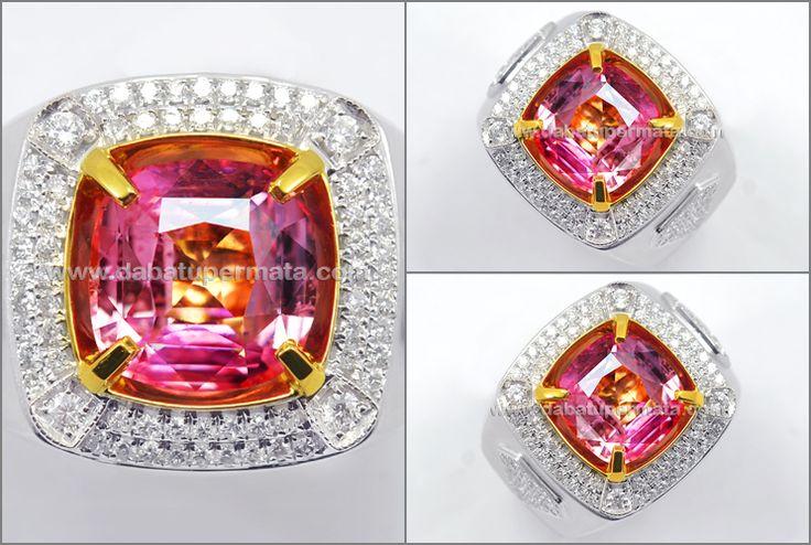 Elegant Sparkling PADSPARADSCHA Crystal Bling-bling (Code : PP 113)