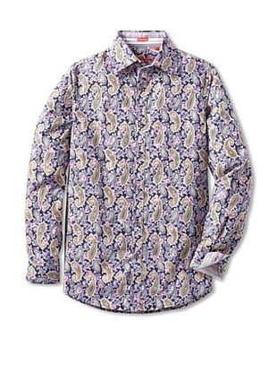 Report Collection Men's Floral Paisley Shirt