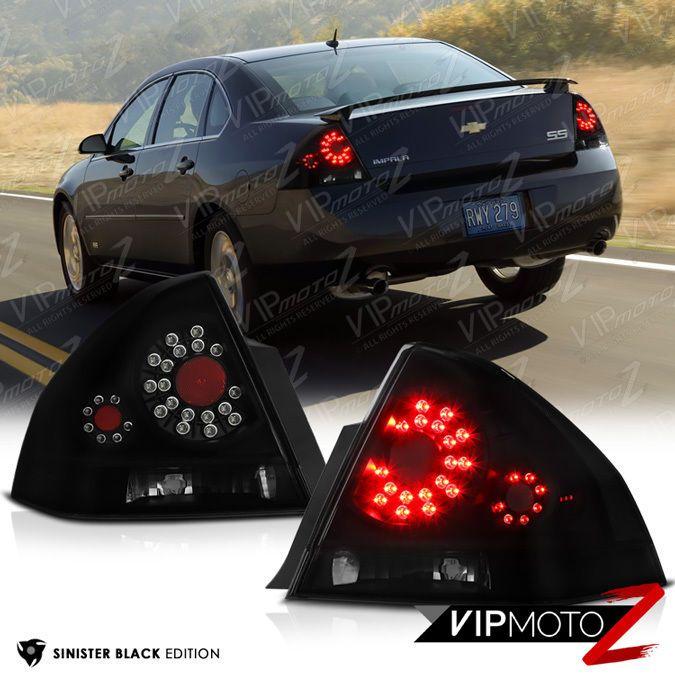 2006-2013 Chevrolet Impala LS LT LTZ SS [SINISTER BLACK] LED Signal Tail Lights #VIPMOTOZ