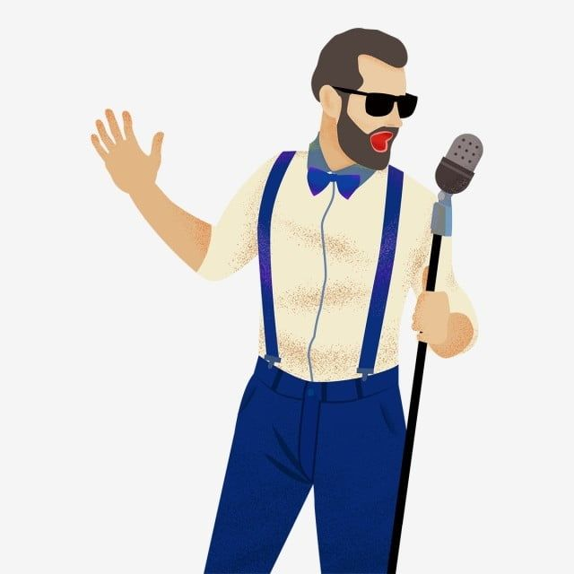 Cartoon Man Singing Illustration Man Clipart Cartoon Cute Png Transparent Clipart Image And Psd File For Free Download Cartoon Man Man Clipart Microphone Drawing
