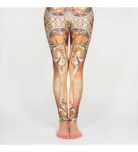 Legging imprimé art nouveau - Mucha