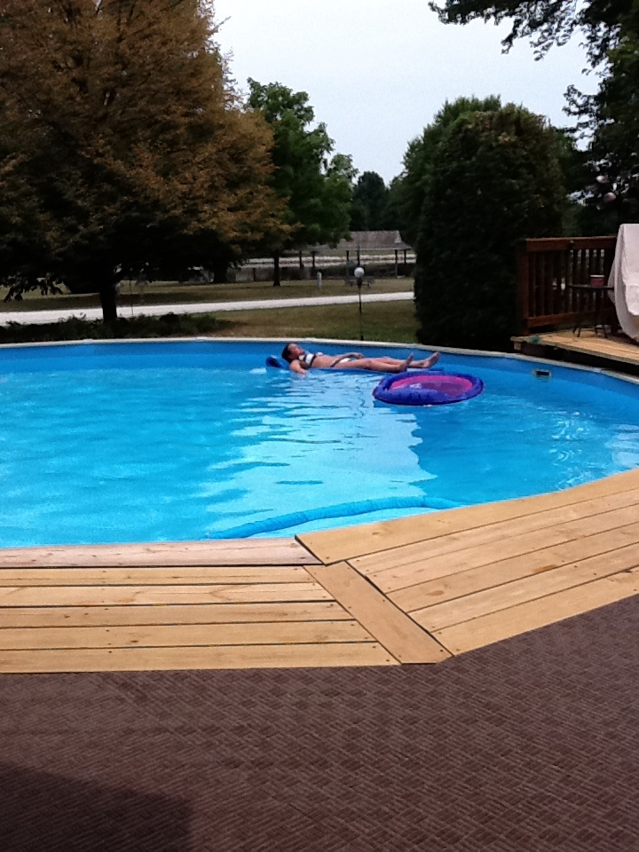 Pool deck our home decks landscaping pinterest for Pool deck landscaping