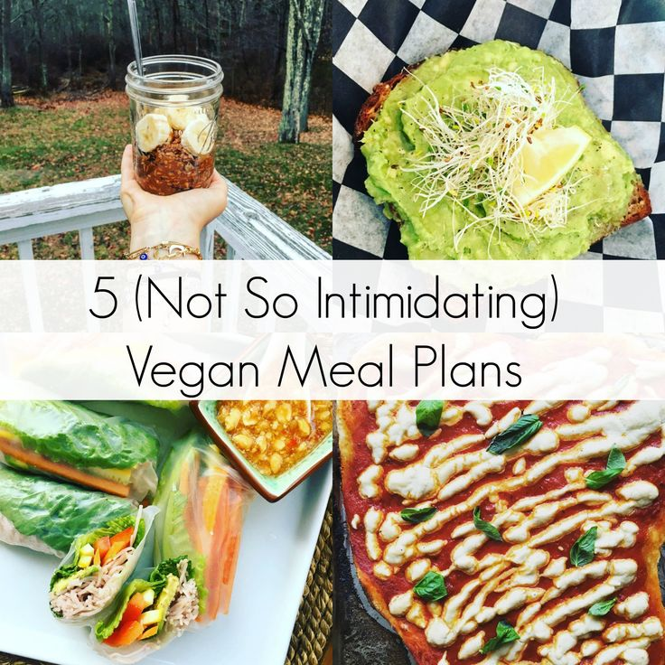 5 (Not So Intimidating) Vegan Meal Plans for Beginners | The Friendly Fig