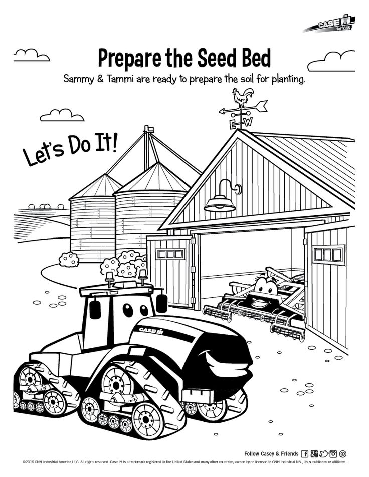 International tractor coloring pages ~ 22 best Case IH for Kids: Casey & Friends - Activities ...