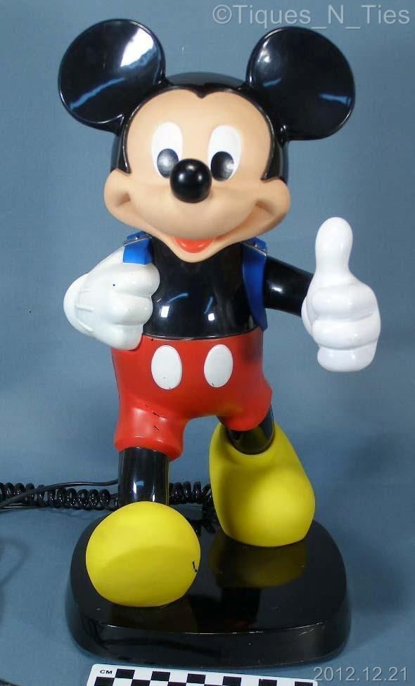 Vintage 1980s Tyco Mickey Mouse Blue Backpack Push Button ...