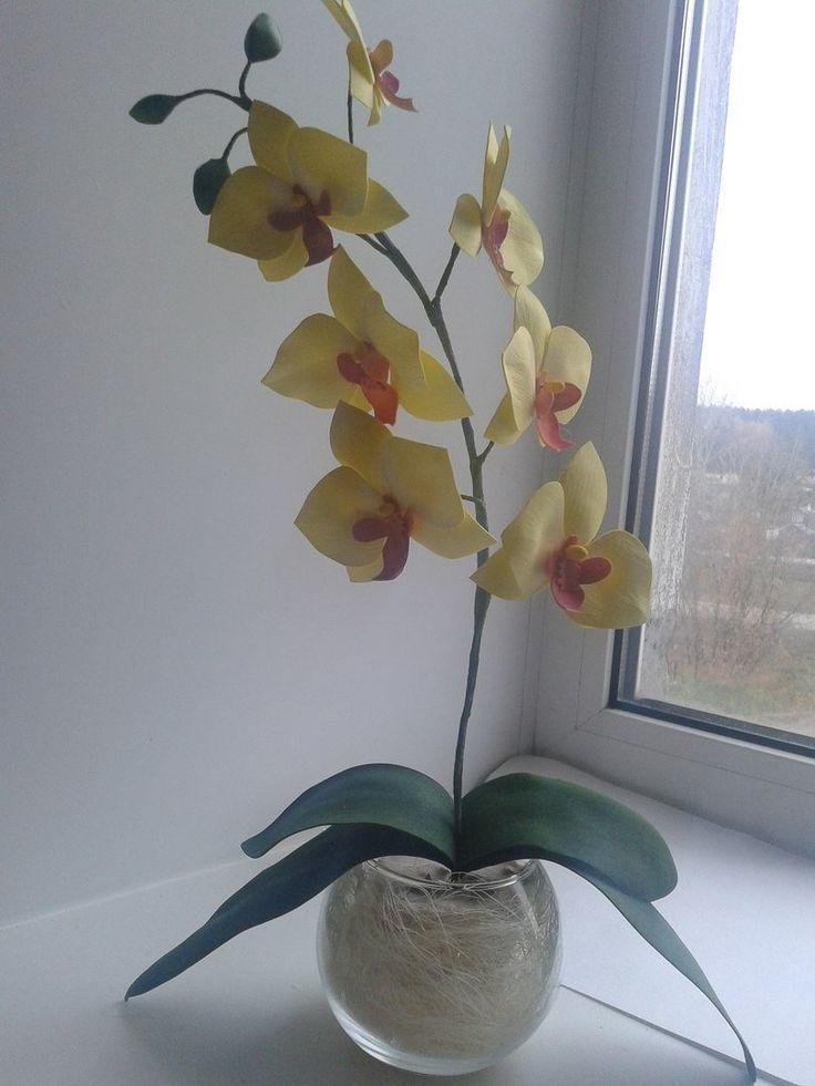 Купить Орхидея из фоамирана. Cделать на заказ. Магазин рукоделия Крафтбург   арт.:6074