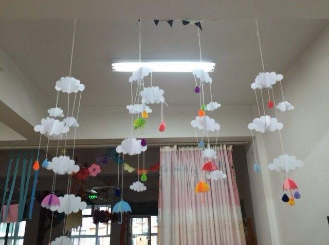 3 шт./лот красивая облако висячие украшения день рождения ну вечеринку и детская комната в украшения даже поставки и подарки для день защиты детей купить на AliExpress
