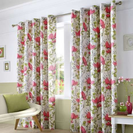 Pink Poppyfields Lined Eyelet Curtains Bedroom Pinterest Pink Products And Curtains