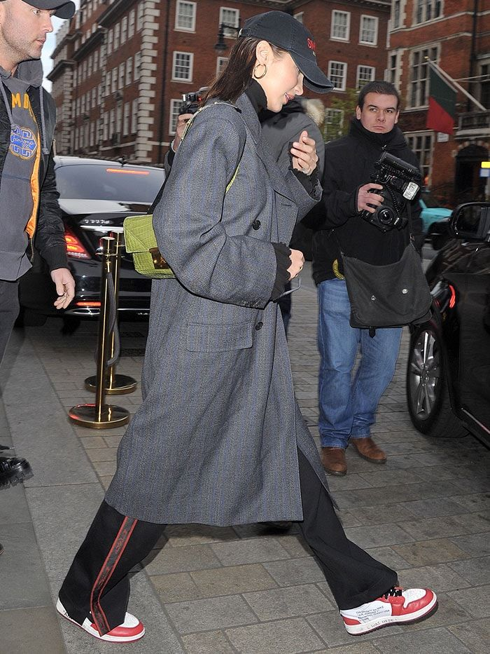 Bella Hadid wearing her Off-White for