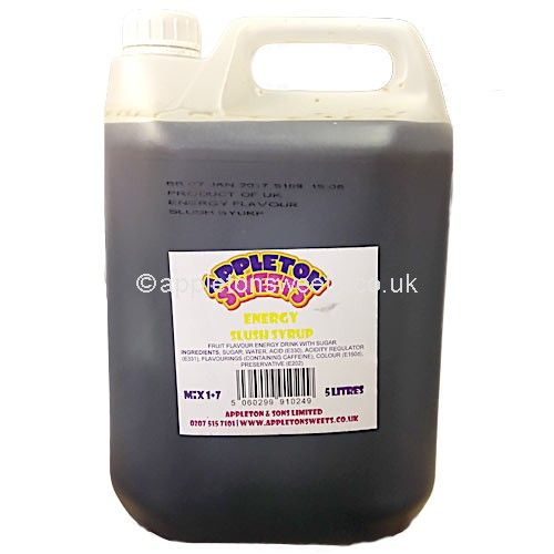 These are a 5 litre large tub of red bull type flavour syrup that make great ice cold slush puppies drinks.