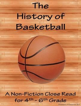 Got boys that love sports but hate to read?? Here's a non-fiction passage about the history of basketball sure to get them geared up to try out the original rules at recess, while giving you an awesome assessment of their close reading skills!