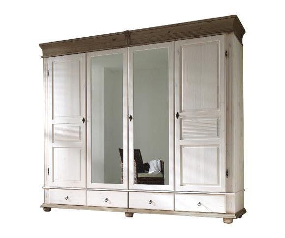 Fabulous Dieser gro e Kleiderschrank im Landhausstil mit Spiegelfront ist das perfekte M bel f r Ihr Schlafzimmer