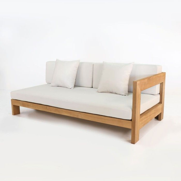 Coast teak daybed left perfect deck pinterest teak for Amalfi sofa chaise