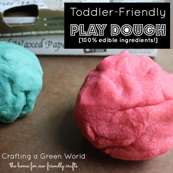This is a play dough recipe that's safe for young toddlers who still like to experience the world by tasting it.