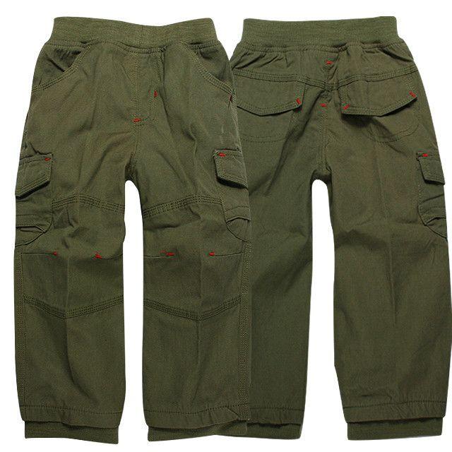 Free shipping brand children clothing pants 2013 new autumn cotton casual regular elastic waist boys  pants 3819 $12.99