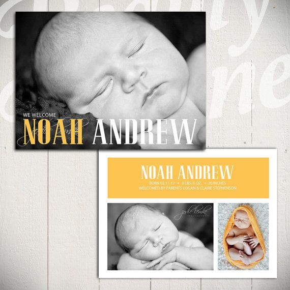 Best NewbornBirth Announcements Images On   Baby