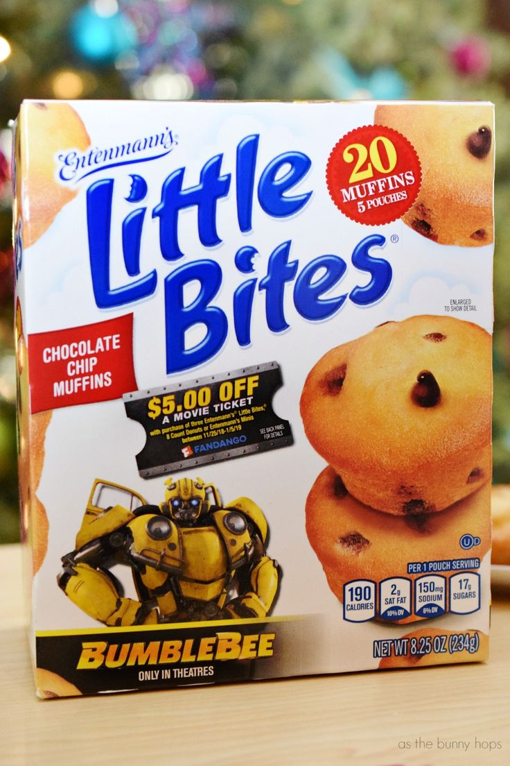 Chocolate chip little bites muffins enjoy bumblebee in