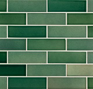 green tiles | products 1920s | subway tile, green subway