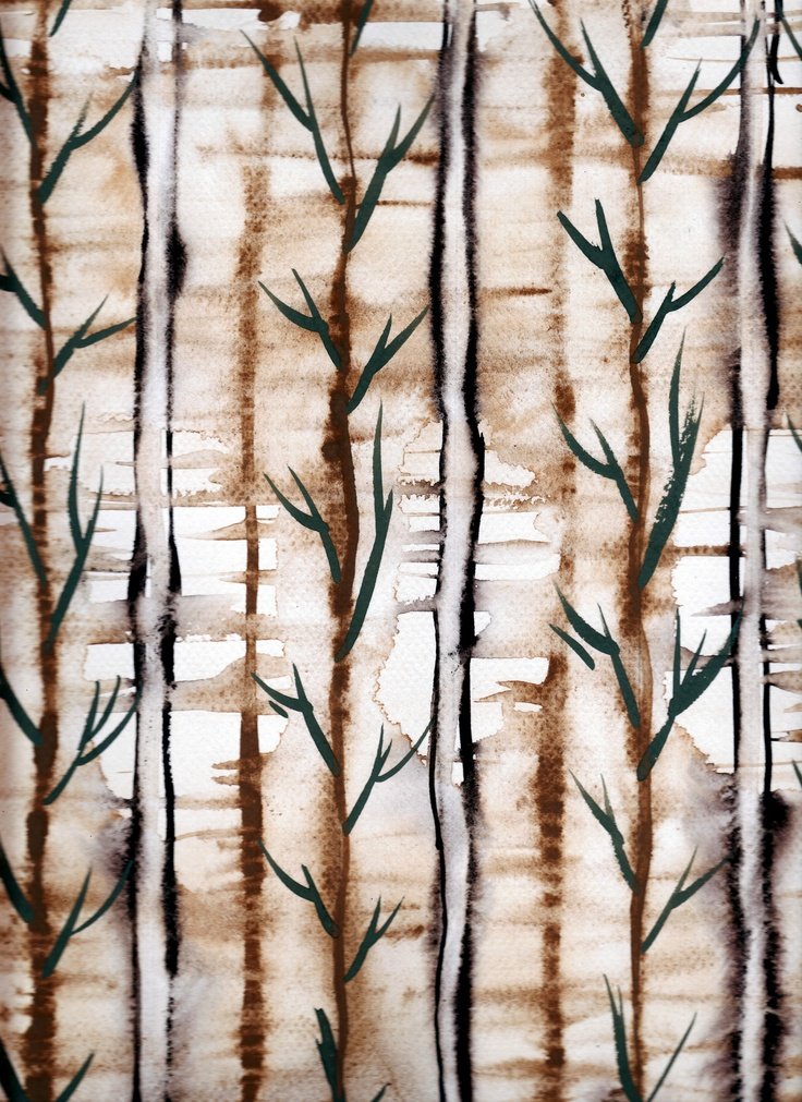 Bamboo_Textile design by Angela Kurnia. Gouche on canson paper.  #watercolor #textiledesign #screenprinting #art #textilework #homewear #wallpaper #wallmotifs #prints