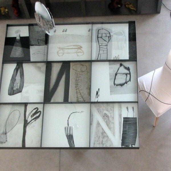 Table Porcelain and Steel Design Rafael Perez, interior design table by DIMA art& design
