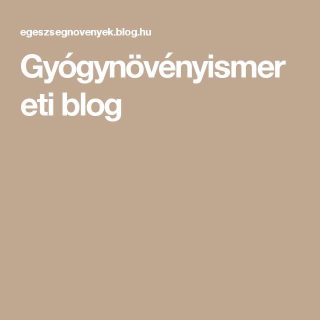 Gyógynövényismereti blog