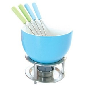 Iu0027m Learning All About Orka Mastrad Fondue Set Blue At