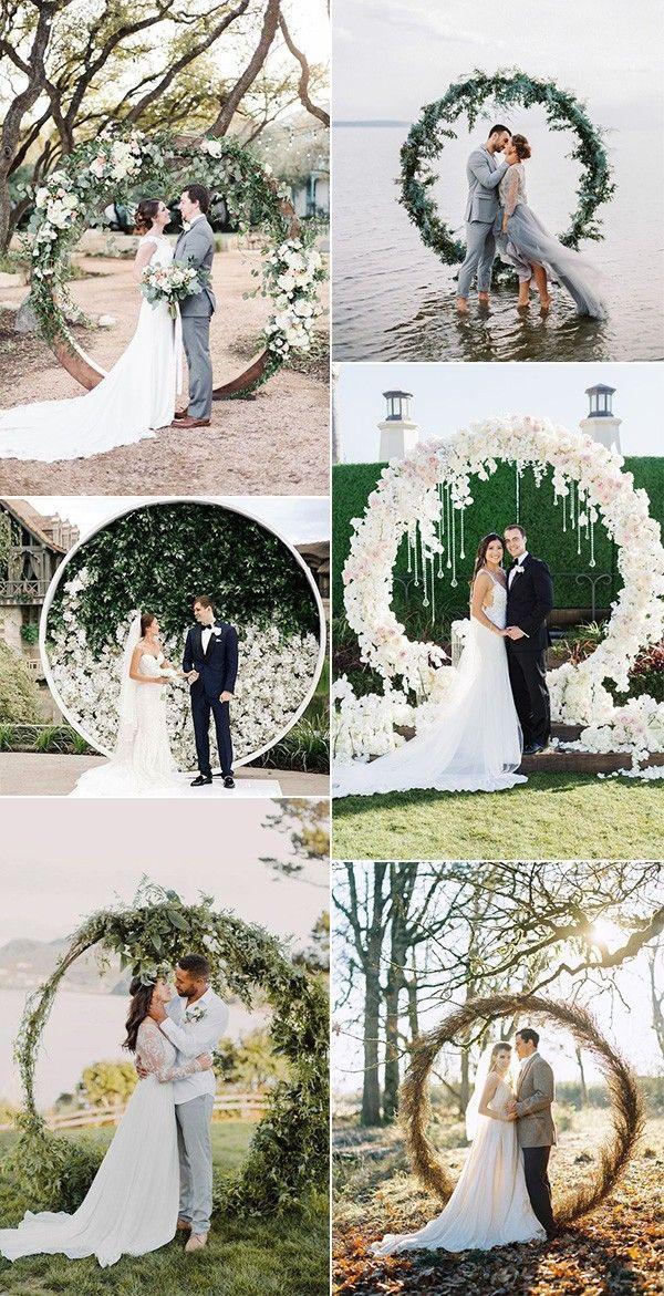 Trending-Top 20 Ideen für kreisförmige Hochzeitsbögen für 2019