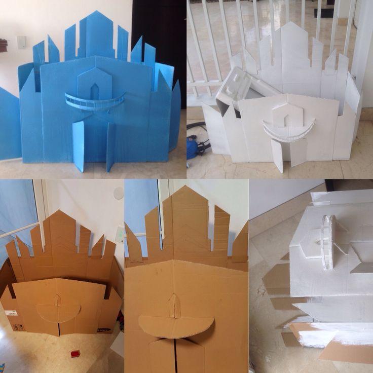 Caja de regalos, diseño castillos Frozen