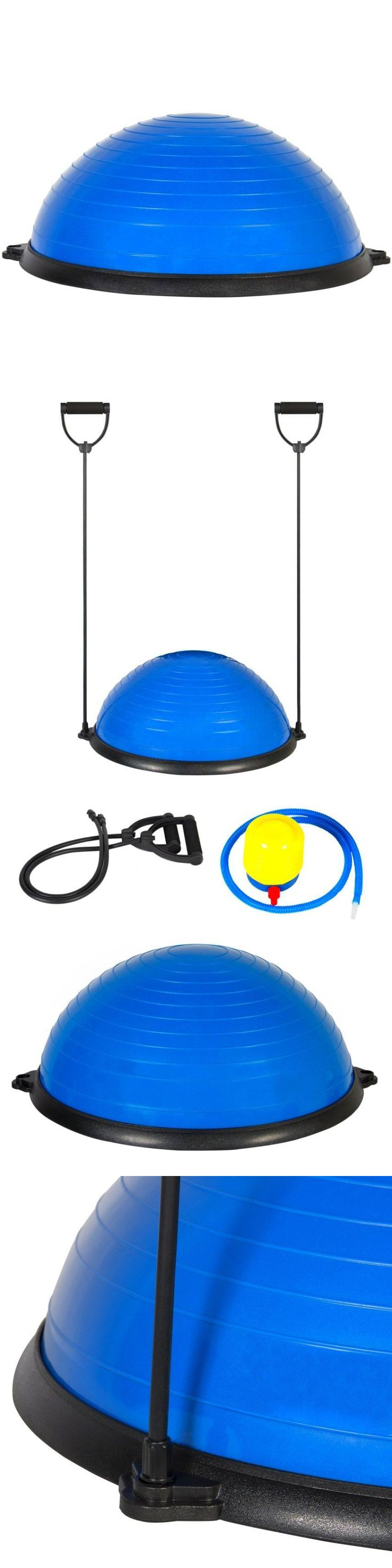 Exercise Balls 31390: Yoga Balance Trainer Ball W/ Resistance Bands Pump Blue Exercise Fitness BUY IT NOW ONLY: $84.99