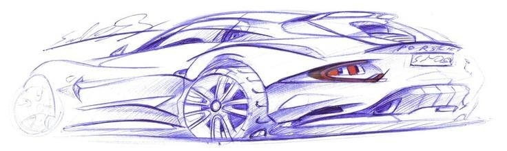 Porsche 928 sketch: Porsche 928, 928 Sketch
