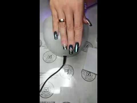 Юлия Билей - Павлинье перо / Julia Biley - Peacock Feather Nail Art Periscope - YouTube