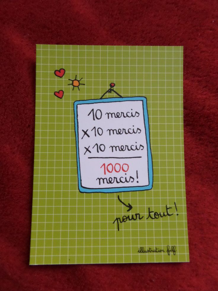 carte 1000 mercis - 1000mercis Mariage