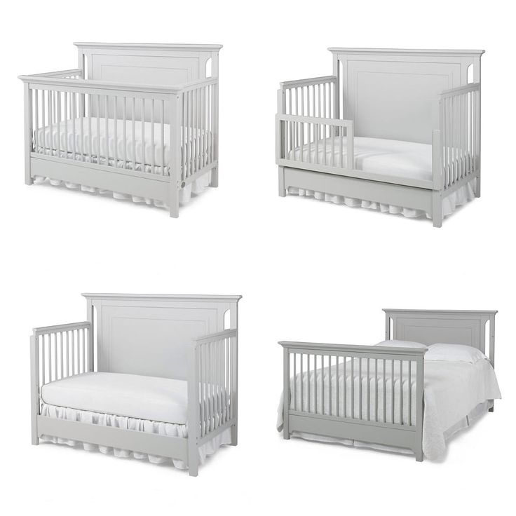 Ti Amo Palazzo 4 In 1 Convertible Crib Misty Grey Grey