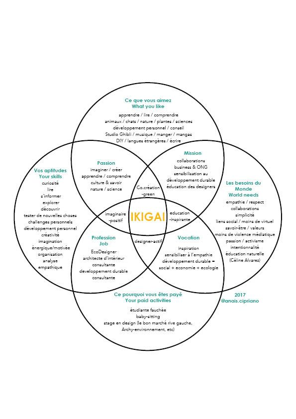 Ikigai : méthode japonaise de développement personnel. exemple