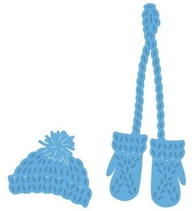Creatables - Knitted Hat & Mittens  LR0440